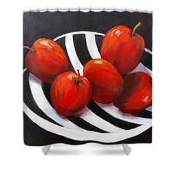 Bowl Of Shiny Apples Shower Curtain