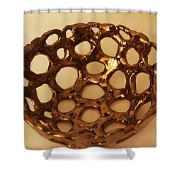 Bowle Of Holes Shower Curtain by Itzhak Richter