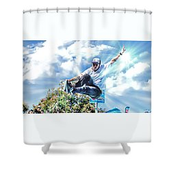 Bowlriders, Skateboarder Shower Curtain