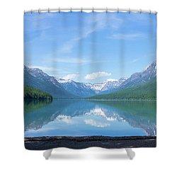 Bowman Lake Mt Shower Curtain