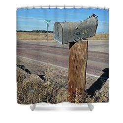 Box 391 Shower Curtain