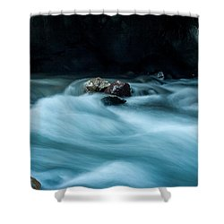 Shower Curtain featuring the photograph Box Canyon Falls by Jay Stockhaus