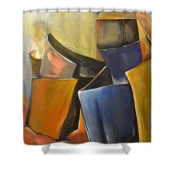 Box Scape Shower Curtain