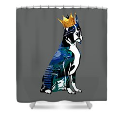 Boxer With Crown Collection Shower Curtain