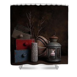 Shower Curtain featuring the photograph Boxes And Bowls by Tom Mc Nemar