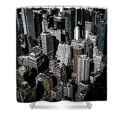 Shower Curtain featuring the photograph Boxes Of Manhattan by Nicklas Gustafsson