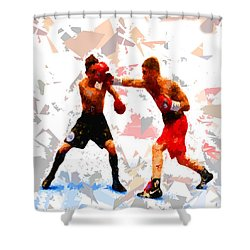Shower Curtain featuring the painting Boxing 113 by Movie Poster Prints