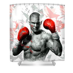 Shower Curtain featuring the painting Boxing 114 by Movie Poster Prints