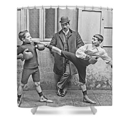 Boxing Under Eyes Of Master, 1904 Shower Curtain
