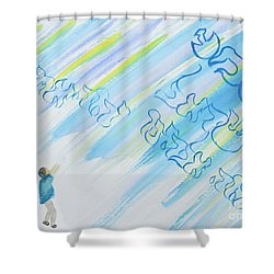 Boy And Shma Shema Shower Curtain