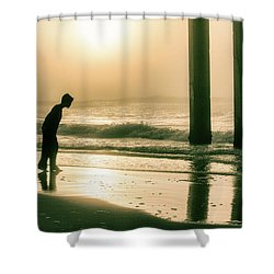 Shower Curtain featuring the photograph Boy At Sunrise In Alabama  by John McGraw