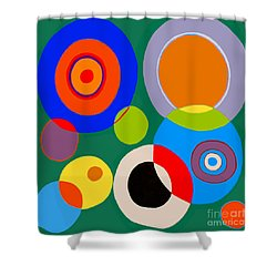 Shower Curtain featuring the painting boy by Beth Saffer