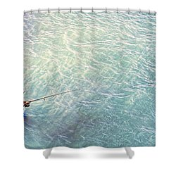 Boy Fishing Shower Curtain