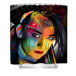 Boy George  Shower Curtain by Mark Ashkenazi