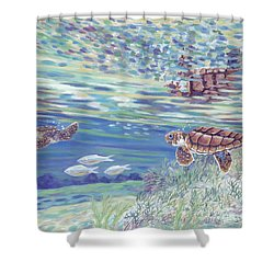 Boy Meets Girl Shower Curtain by Danielle  Perry