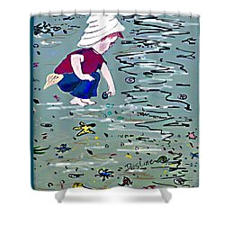 Boy On Beach Shower Curtain