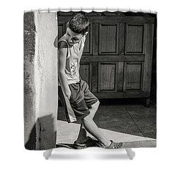 Boy On The Corner Shower Curtain