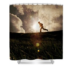 Boy Running Shower Curtain