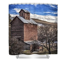 Shower Curtain featuring the photograph Boyd Flour Mill by Cat Connor