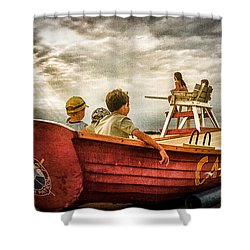 Boys Of Summer Cape May New Jersey Shower Curtain