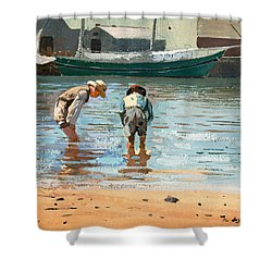 Boys Wading Shower Curtain