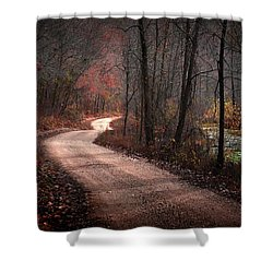 Boz Mill Road Shower Curtain by Bill Stephens