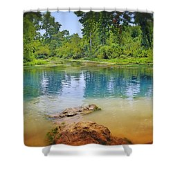 Shower Curtain featuring the photograph Boze Mill Spring by Marty Koch