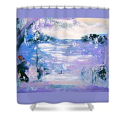 Be Brave By Colleen Ranney Shower Curtain