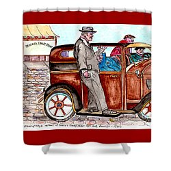 Bracco Candy Store - Window To Life As It Happened Shower Curtain by Philip Bracco