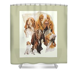 Bracco Italiano W/ghost Shower Curtain