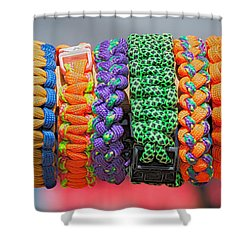 Bracelets Shower Curtain