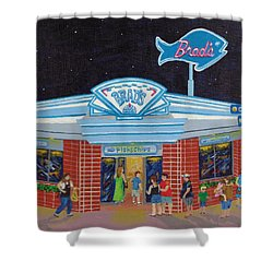 Shower Curtain featuring the painting Brad's Pismo Beach California by Katherine Young-Beck