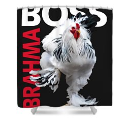 Brahma Boss II T-shirt Print Shower Curtain