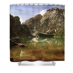 Braies Lake Shower Curtain