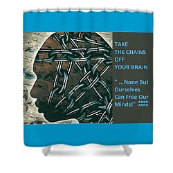 Brain Chains Shower Curtain
