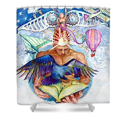 Brain Child Shower Curtain