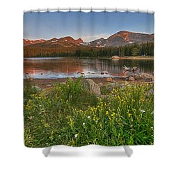 Shower Curtain featuring the photograph Brainard Lake by Gary Lengyel