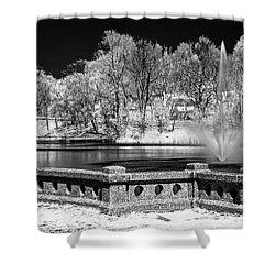 Shower Curtain featuring the photograph Branch Brook Park New Jersey Ir by Susan Candelario