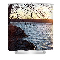 Late-summer Riverbank Shower Curtain