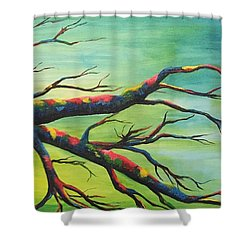 Branching Out In Color Shower Curtain