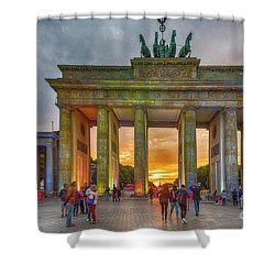 Brandenburg Gate Shower Curtain by Pravine Chester