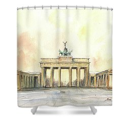 Brandenburger Tor, Berlin Shower Curtain
