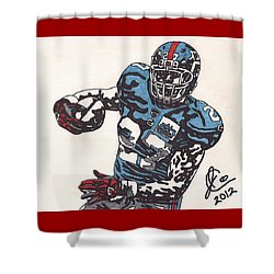 Brandon Jacobs 1 Shower Curtain by Jeremiah Colley