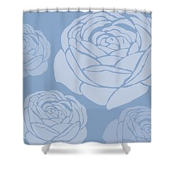 Brandon Rose Shower Curtain