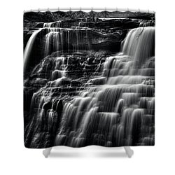 Brandywine Falls At Cuyahoga Valley National Park B W Shower Curtain
