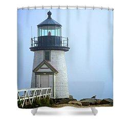 Brant Point Lighthouse Shower Curtain