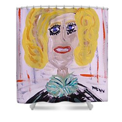 Shower Curtain featuring the painting Brash Blond by Mary Carol Williams