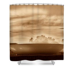 Shower Curtain featuring the photograph Brasilia In Sepia by Beto Machado