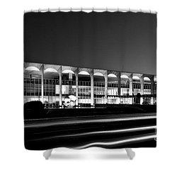 Brasilia - Itamaraty Palace - Black And White Shower Curtain