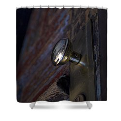 Brass Door Knob I Shower Curtain